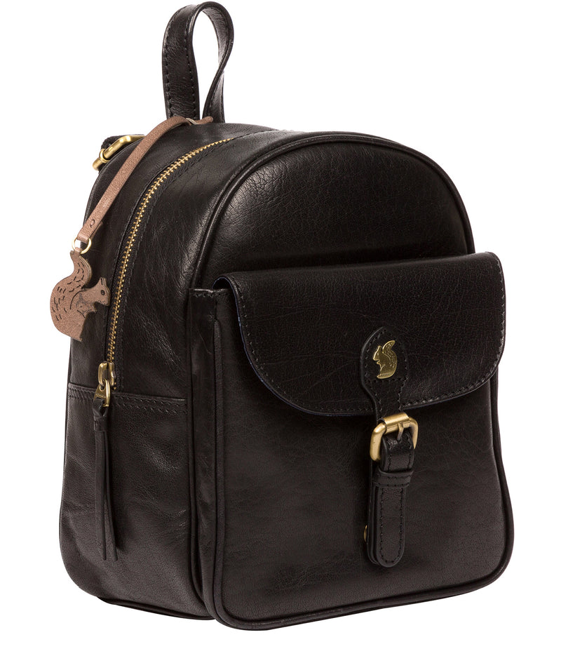 'Eloise' Black Leather Backpack image 5