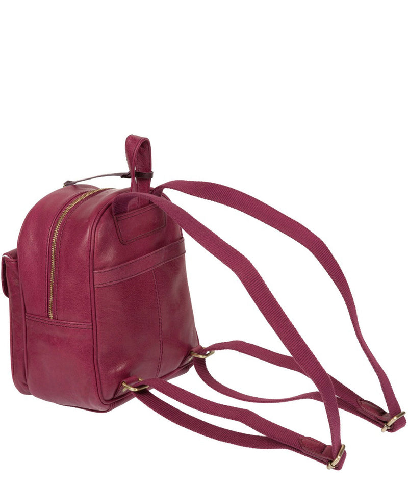 'Eloise' Orchid Leather Backpack