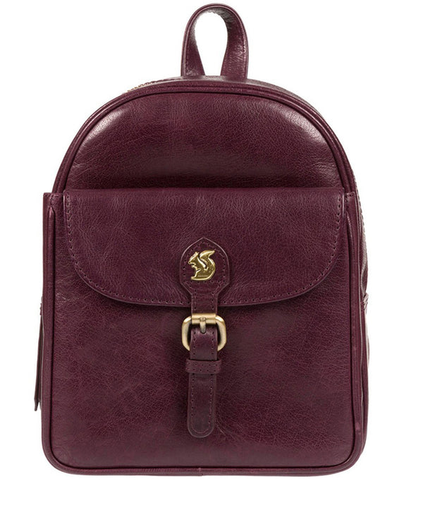 'Eloise' Plum Leather Backpack image 1