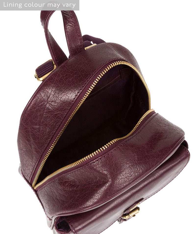 'Eloise' Plum Leather Backpack image 4