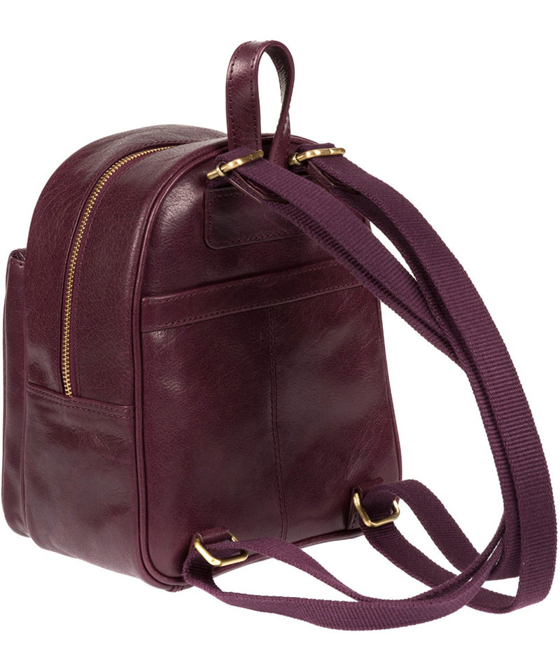 'Eloise' Plum Leather Backpack image 5