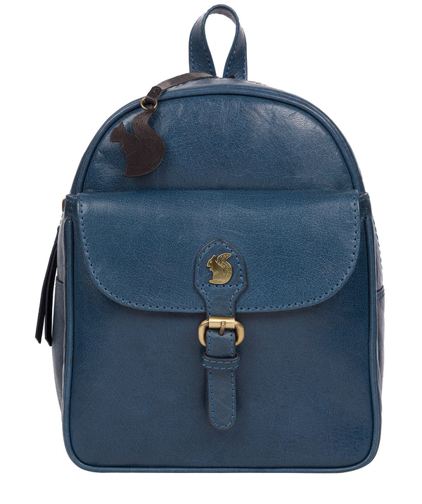 'Eloise' Snorkel Blue Leather Backpack image 1