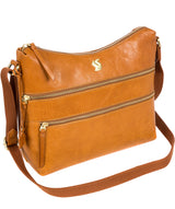 'Georgia' Cognac Leather Shoulder Bag