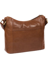 'Georgia' Conker Brown Leather Shoulder Bag image 3