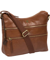 'Georgia' Conker Brown Leather Shoulder Bag image 5