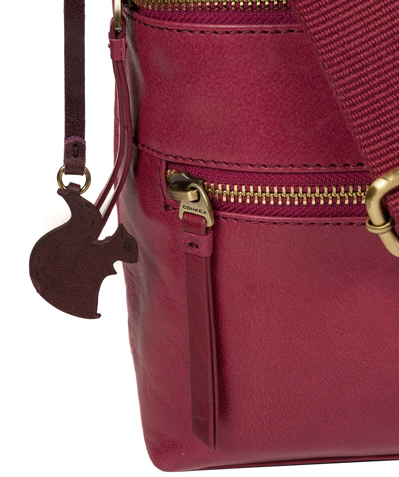 'Georgia' Orchid Leather Shoulder Bag Pure Luxuries London