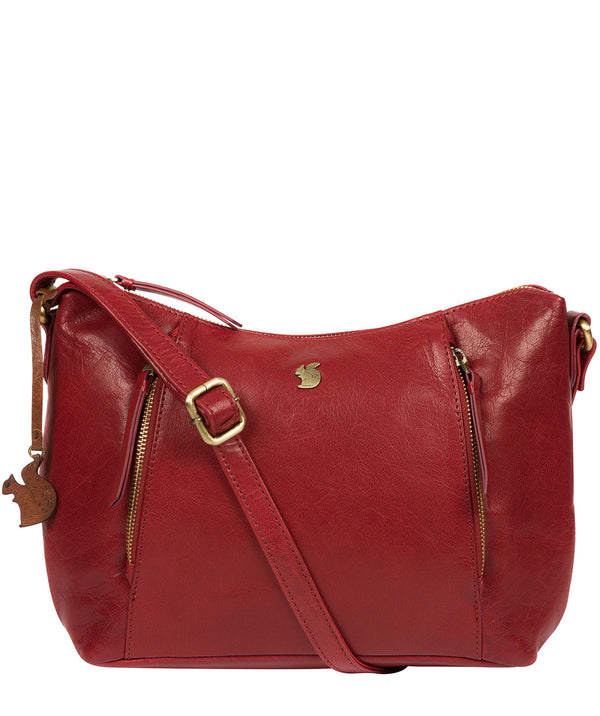 'Esta' Chilli Pepper Leather Cross Body Bag image 1