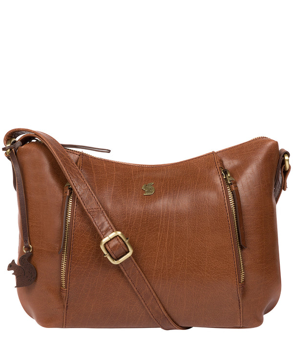 'Esta' Conker Brown Leather Cross Body Bag image 1