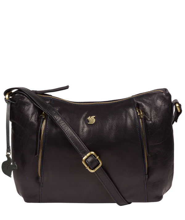'Esta' Navy Leather Cross Body Bag Pure Luxuries London