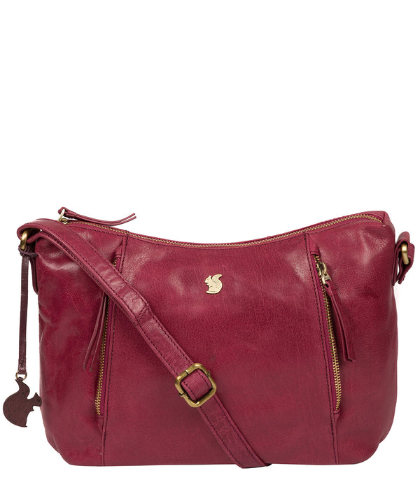 'Esta' Orchid Leather Cross Body Bag image 1