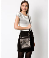 'Sasha' Black Leather Cross Body Bag image 2