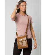 'Sasha' Dark Tan Leather Cross Body Bag image 2