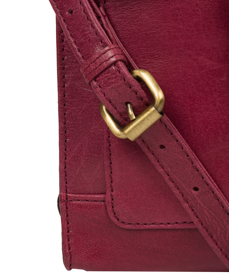 'Sasha' Orchid Leather Cross Body Bag Pure Luxuries London
