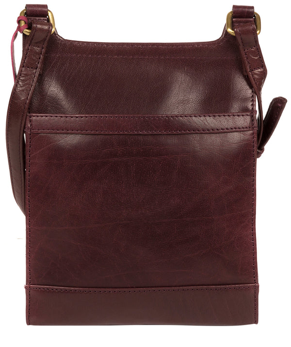 'Sasha' Plum Leather Cross Body Bag image 3