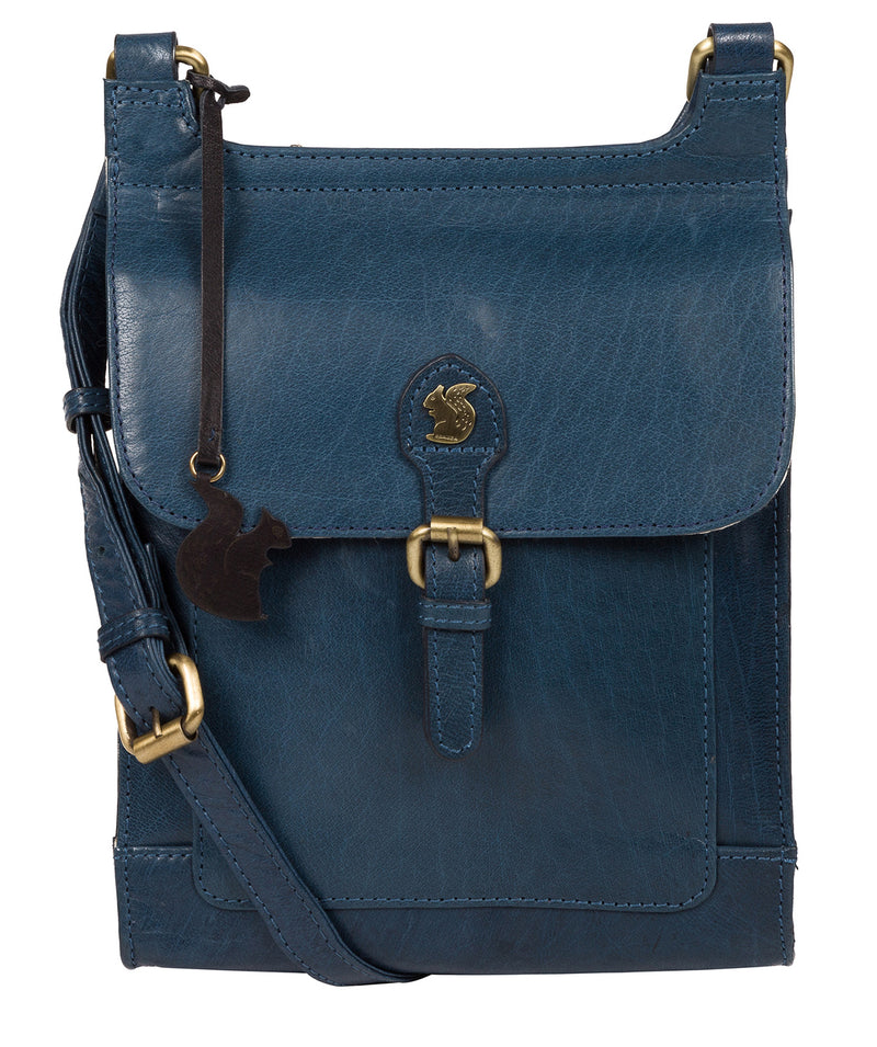 'Sasha' Snorkel Blue Leather Cross Body Bag image 1