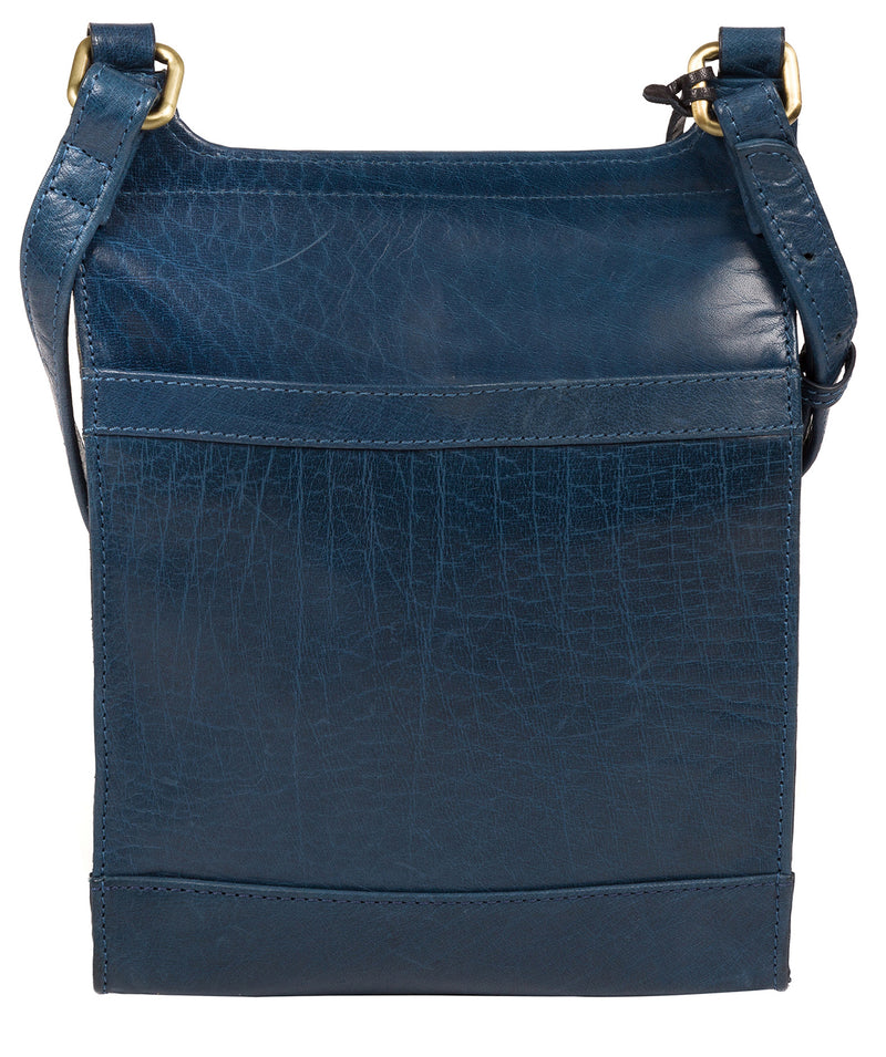 'Sasha' Snorkel Blue Leather Cross Body Bag image 3