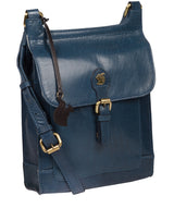 'Sasha' Snorkel Blue Leather Cross Body Bag image 5