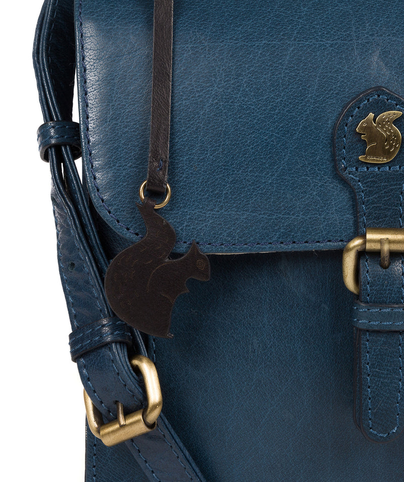 'Sasha' Snorkel Blue Leather Cross Body Bag image 6
