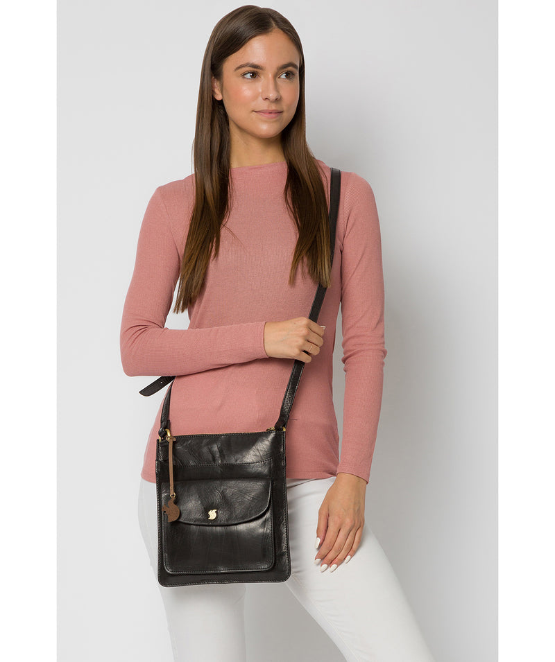 'Lauryn' Black Leather Cross Body Bag image 2