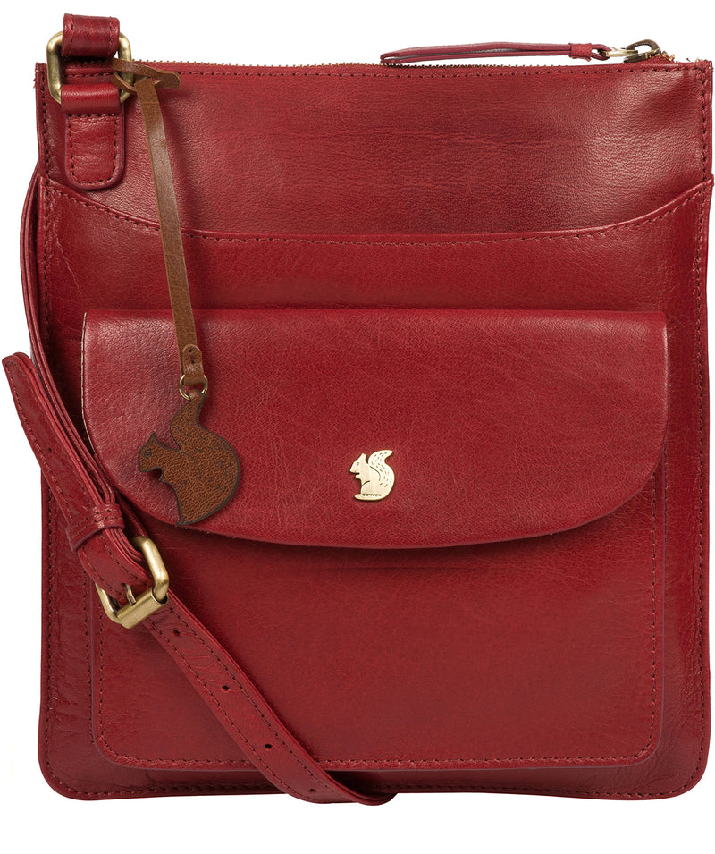 'Lauryn' Chilli Pepper Leather Cross Body Bag image 1