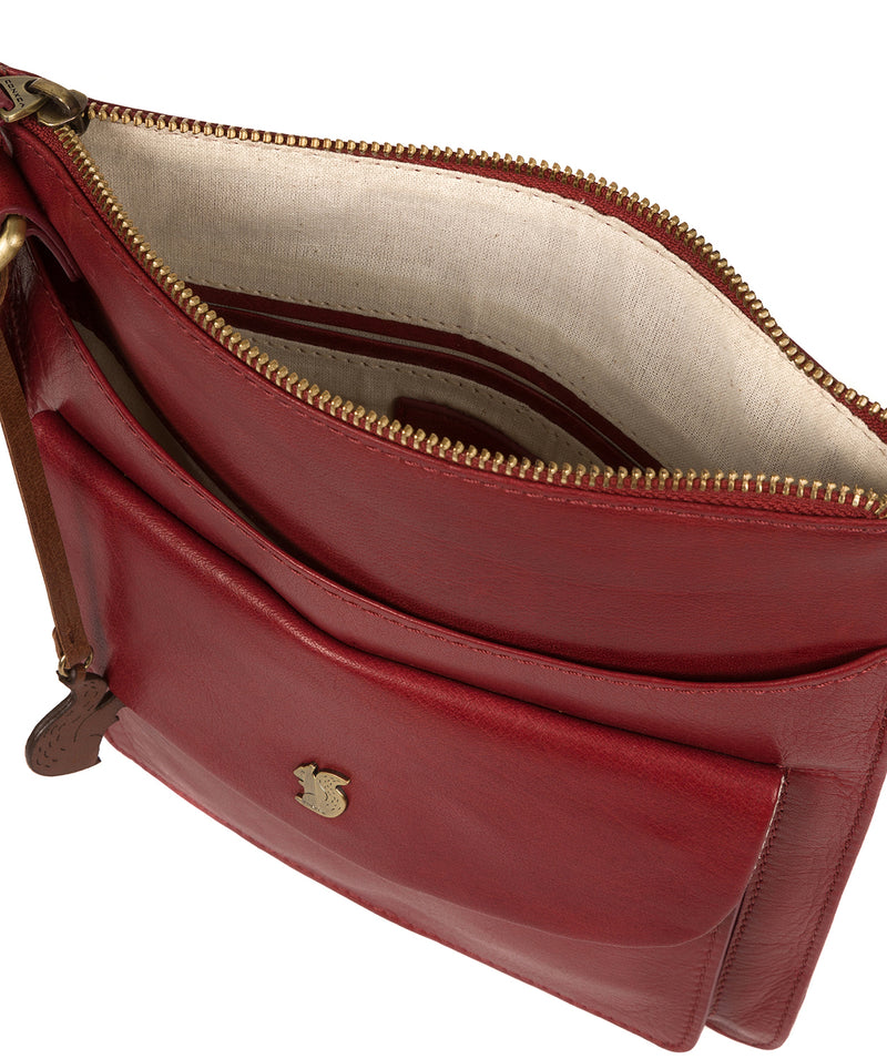 'Lauryn' Chilli Pepper Leather Cross Body Bag image 4