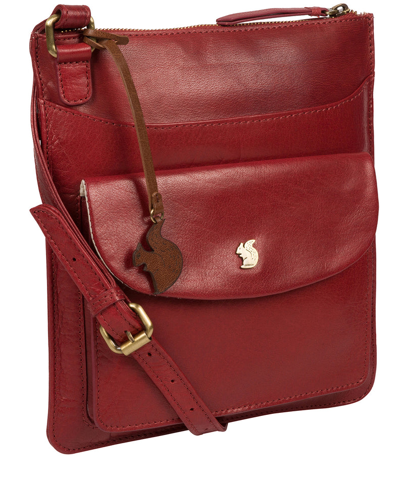 'Lauryn' Chilli Pepper Leather Cross Body Bag image 5