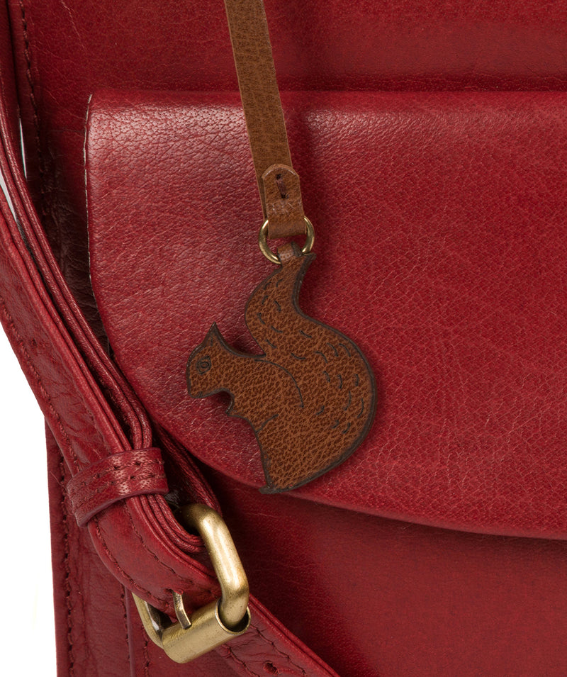 'Lauryn' Chilli Pepper Leather Cross Body Bag image 6