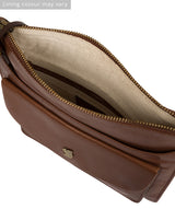 'Lauryn' Conker Brown Leather Cross Body Bag image 4