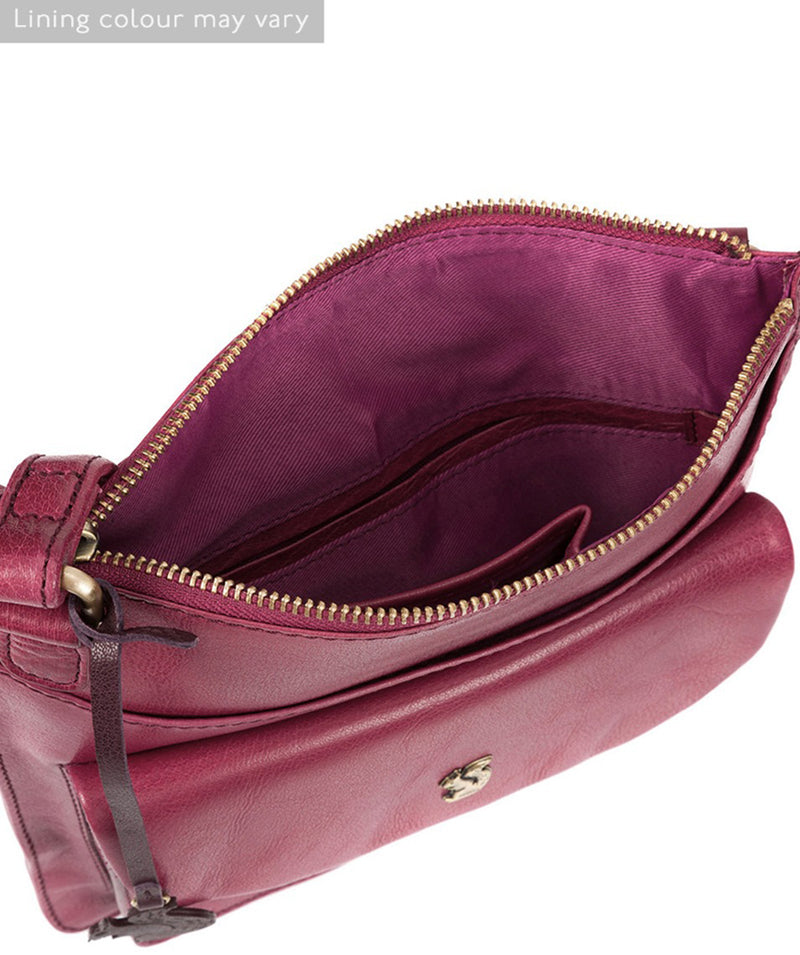 'Lauryn' Orchid Leather Cross Body Bag