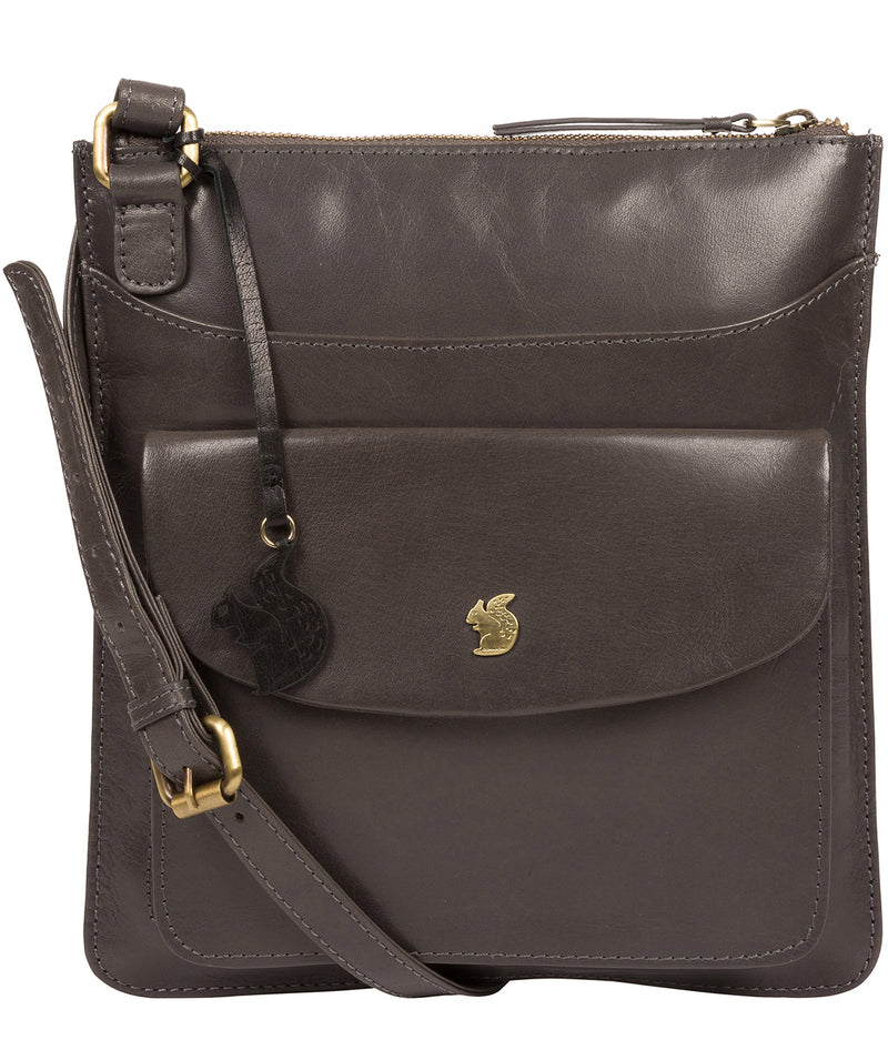 'Lauryn' Slate Leather Cross Body Bag image 1
