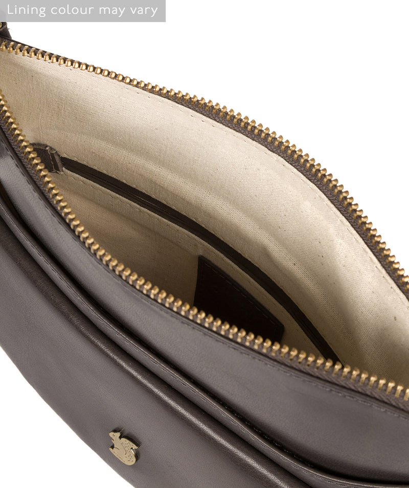 'Lauryn' Slate Leather Cross Body Bag image 4