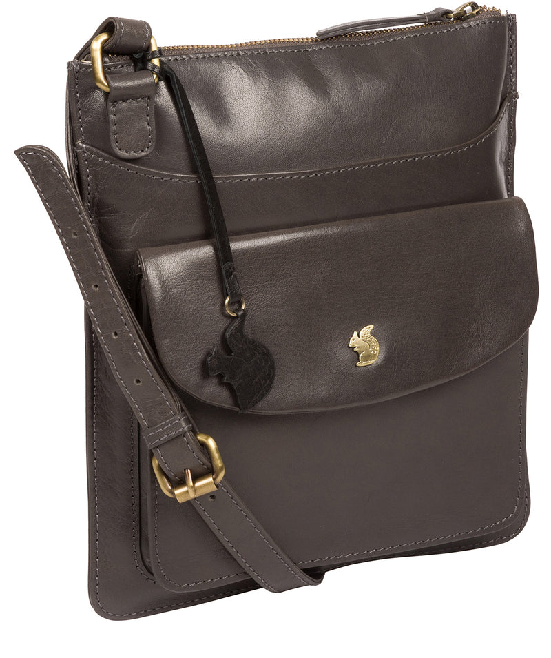 'Lauryn' Slate Leather Cross Body Bag image 5