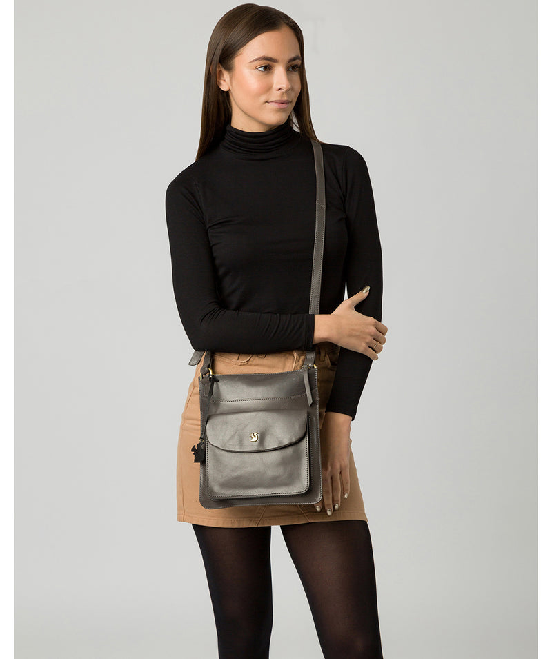 'Lauryn' Slate Leather Cross Body Bag image 2