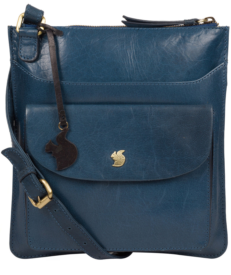 'Lauryn' Snorkel Blue Leather Cross Body Bag image 1