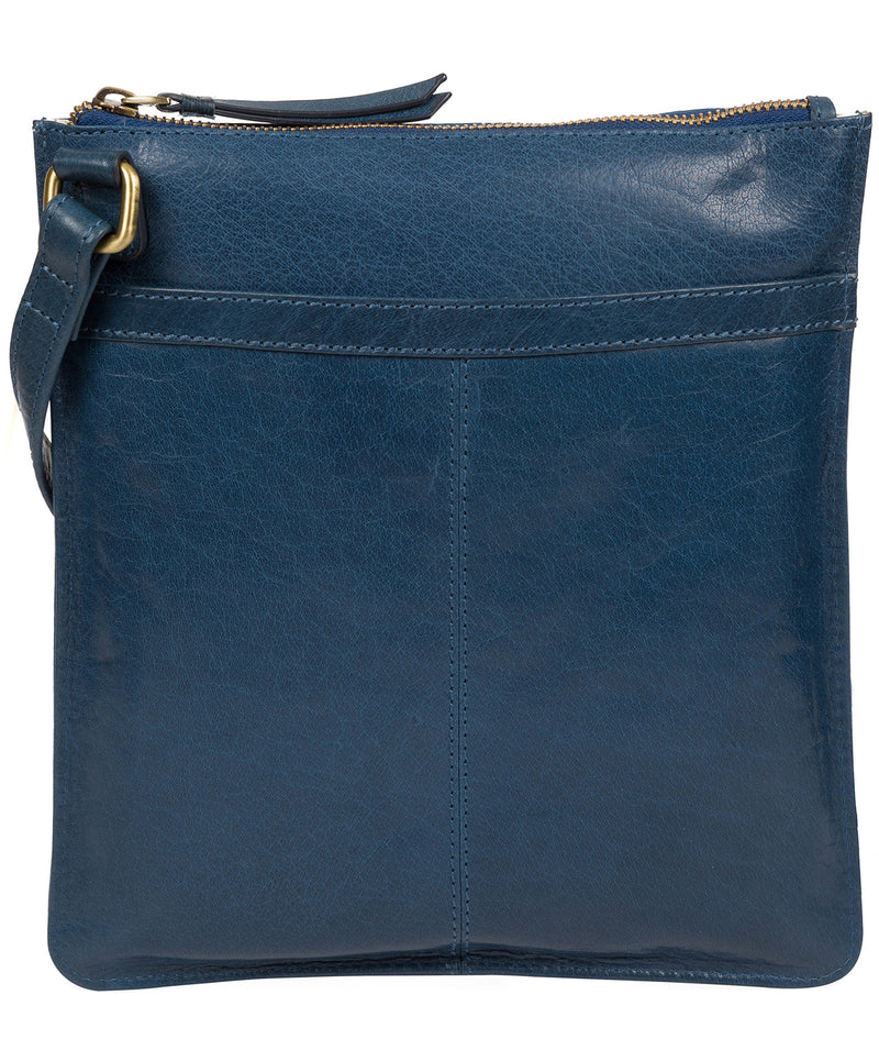 'Lauryn' Snorkel Blue Leather Cross Body Bag image 3