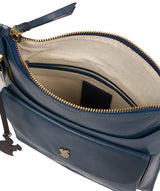 'Lauryn' Snorkel Blue Leather Cross Body Bag image 4