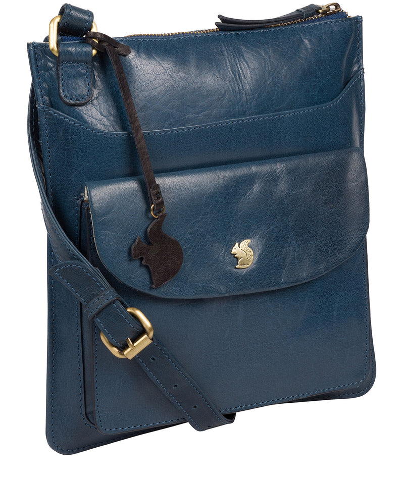 'Lauryn' Snorkel Blue Leather Cross Body Bag image 5