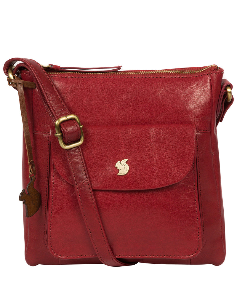 'Shona' Chilli Pepper Leather Cross Body Bag image 1
