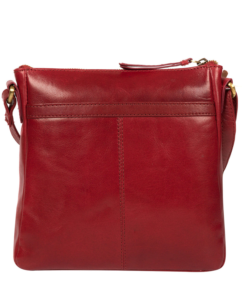 'Shona' Chilli Pepper Leather Cross Body Bag image 3
