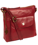'Shona' Chilli Pepper Leather Cross Body Bag image 5