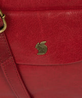 'Shona' Chilli Pepper Leather Cross Body Bag image 6
