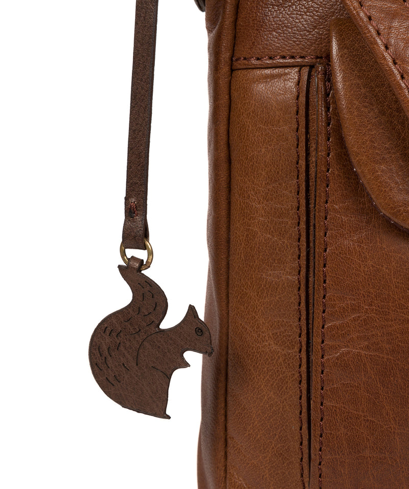 'Shona' Conker Brown Leather Cross Body Bag image 6
