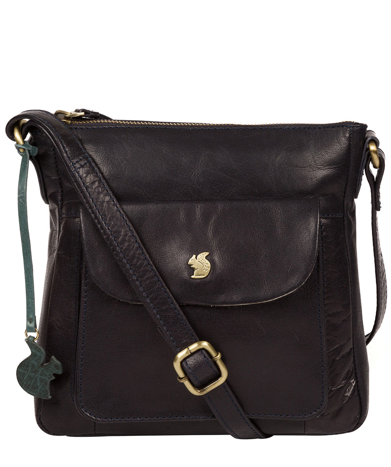 'Shona' Navy Leather Cross Body Bag image 1