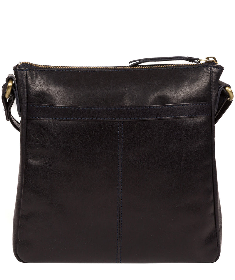 'Shona' Navy Leather Cross Body Bag image 3