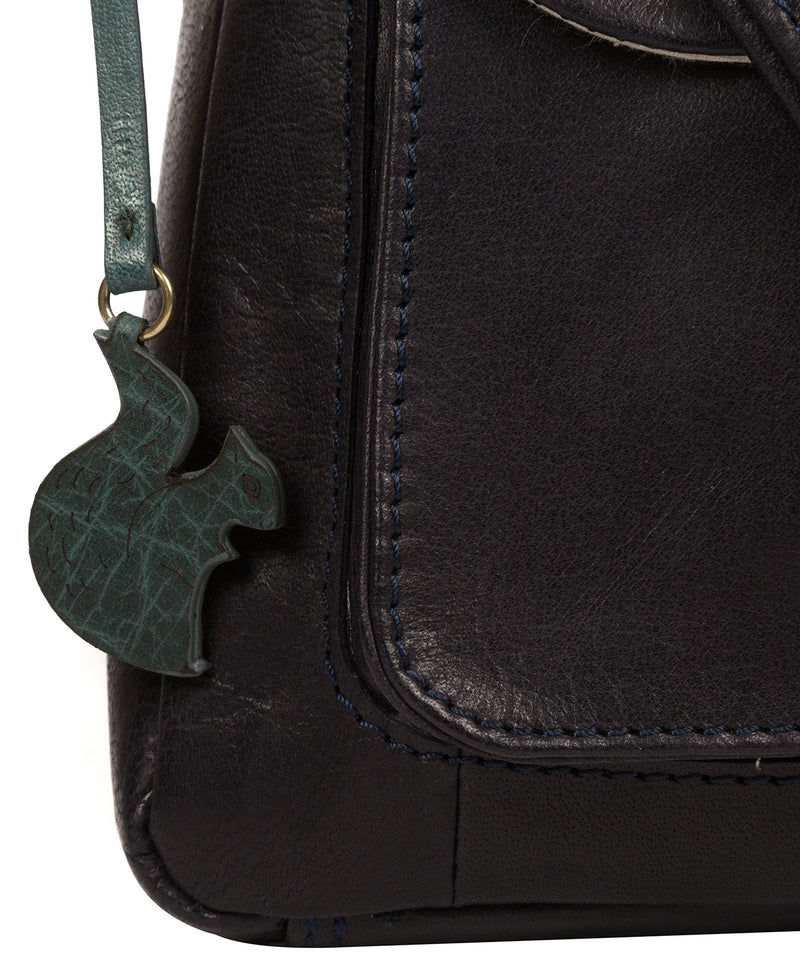 'Shona' Navy Leather Cross Body Bag image 6