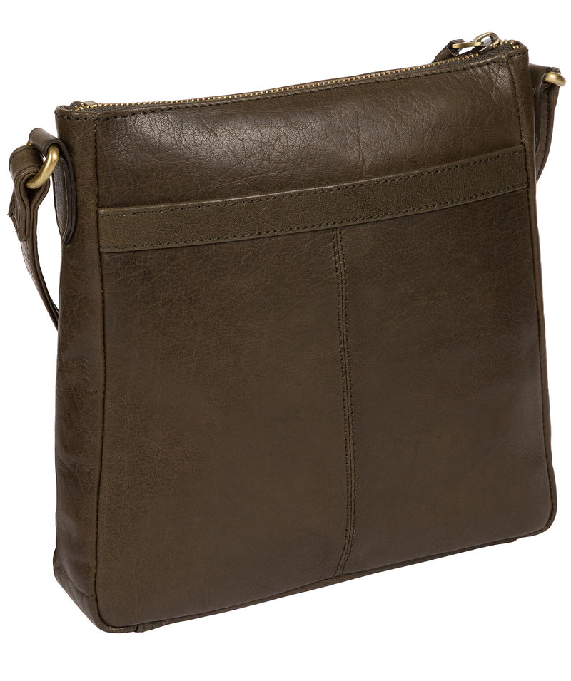 'Shona' Olive Leather Cross Body Bag
