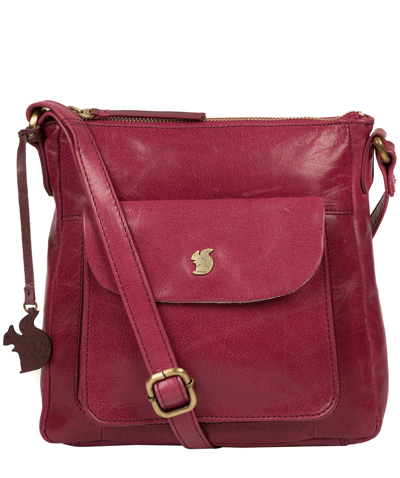 'Shona' Orchid Leather Cross Body Bag image 1