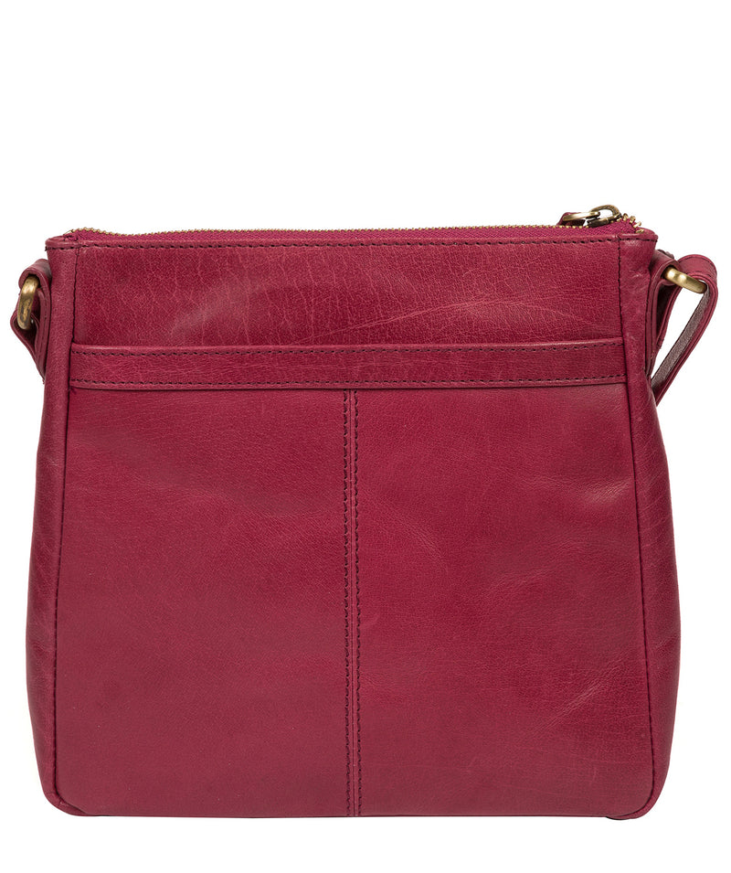 'Shona' Orchid Leather Cross Body Bag Pure Luxuries London