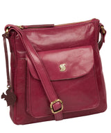 'Shona' Orchid Leather Cross Body Bag image 5