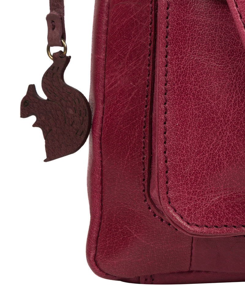 'Shona' Orchid Leather Cross Body Bag image 6